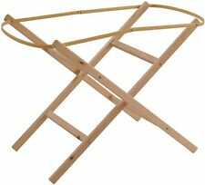 Clair de Lune Ready Assembled Wooden Folding Moses Basket Stand Natural