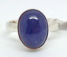 Tanzanite gemstone oval ring solid Sterling Silver, uk size N 1/2 new actual one