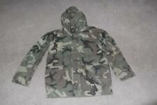 Military Large Long Parka Cold Weather Field Jacket BDU Woodland Unisex #87
