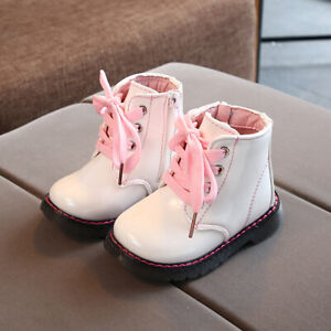 Waterproof Children Kids Casual Ankle Boots Baby Toddler Boys Girls Lace Up Boot