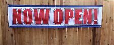 Now Open Banner Opening Coming Soon Restaurant Store Advertising Big 2x8 Sign