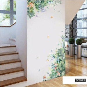 Summer Beautiful Flowers Hanging Leaves Removable Decals Home Decor Art Vinyl AU