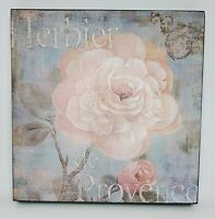 "Imprint Picture Wall Art Decor Floral Flowers Herber de Provence Wood 16"""