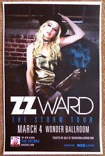 ZZ WARD 2018 Gig POSTER Portland Oregon Concert