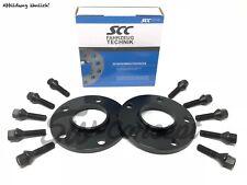 20mm 2x10mm SCC Spurverbreiterung BMW mit Radschrauben Spurplatten schwarz