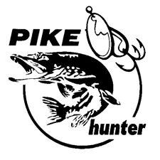Pike Hunter Fisch Angler Aufkleber 2 Stck. JDM Decal Auto Sticker 14 x 13,3  cm