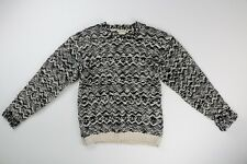 Isabel Marant X HM H&M Black White Wool Knit Sweater US 12-14y Small