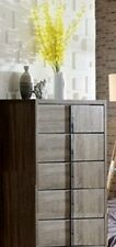 Assembled Oasis 5 Drawer Mocha Oak Tallboy chest of Drawers