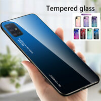 For Samsung Galaxy S21+ Note 20 Ultra S20 FE Gradient Tempered Glass Case Cover