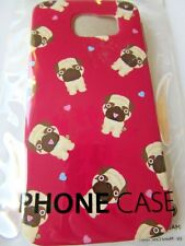 brand new dog phone case for galaxy  s6  red  with pug dogs  , great deal
