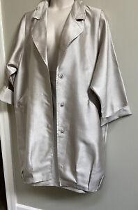 MARINA RINALDI  2 Pc Silk& Cotton Blend Skirt & Matching Duster Coat Jacket~ 25