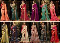 Party Wear Wedding Designer Indian Pakistani Bollywood Bridal Saree Sari MD