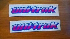 Uni-Trak Swing Arm Sticker Decal - White / Pink Kawasaki KX  KMX KDX 125 250