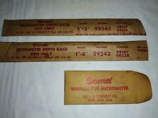 Vintage Starrett Depth Micrometer Replacement Rods In Good Open Pack Condition