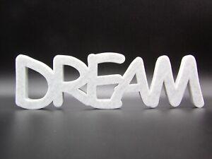 """Dream"" Word Ornament  - 7x23.5x1.5cm - Various Colours"
