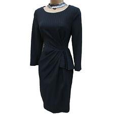 Exquisite Karen Millen Tailored Pinstripe Cocktail Office Pencil Dress 12 UK 40