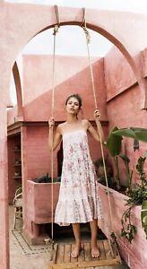 Spell Designs Zahara Midi Strappy Dress Dusty Pink- Size Small