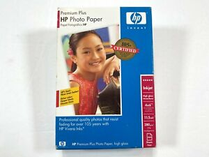 HP Premium Plus Photo Paper High Gloss 4×6 (100 Sheets) New Sealed