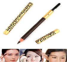 Long last Waterproof Leopard Brown Eyeliner Eyebrow Pencil Brush Women Make Up