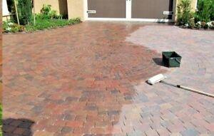 Wet look driveway sealer block paving -patio sealant 20ltr (hard wearing)