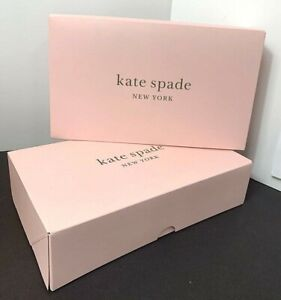 """New Kate Spade Empty Gift Box 10""""x 6""""x  2 1/2"""" Pink   Lot of 2,  1 Piece Boxes"""