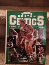 1990-91 BOSTON CELTICS Greenbook Larry Bird Cover by Roland Lazenby