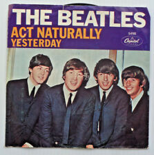 "BEATLES "" Yesterday / Act Naturally "" Vinyl 45 7"" Capitol 5498 "" Picture Sleeve"