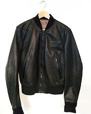 ACNE Men's Leather Jacket Black Bomber Moto M