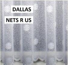 "DALLAS / DAISY WHITE NET CURTAINS-DROP 36"" (91cm)  sold on roll £4.50 per metre"