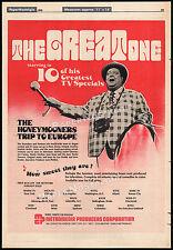 THE HONEYMOONERS TRIP TO EUROPE__Original 1976 Trade AD promo__JACKIE GLEASON