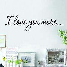 I Love You Más Frase Adhesivo De Pared Extraíble Mural Decoración Vinilo WSSU