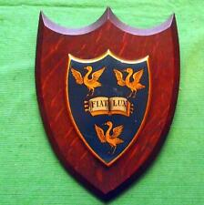 c1900  Liverpool University College School Crest Shield Plaque