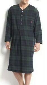 Polo Ralph Lauren Plaid Flannel Pajama Nightshirt Pajamas, Robes sleepwear RARE