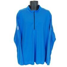 New NWT Adidas Men's Large 2XL Blue Wisconsin State Golf Association Zip Shirt