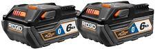 RIDGID 18-Volt HYPER OCTANE Mobile Bluetooth 6.0Ah Battery Pack (2-Pack)