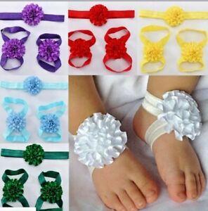 Newborn Baby Girl Kids Infant Headband Foot Flower Elastic Hair Band/ACCESORIES