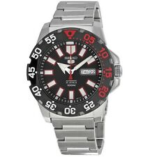 Seiko 5 Sports SRP487 K1 Black Dial Stainless Steel Men's Automatic Analog Watch
