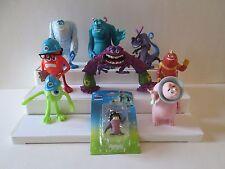 Lot 9 Disney Pixar Monsters Inc University Figures Sully Randal Mikey Boo Art +