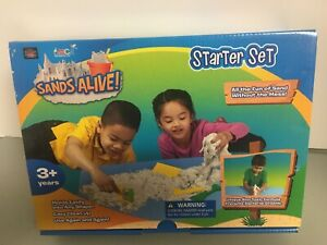 Sands Alive! Starter Set - 1.5 Lbs of Non Toxic Sands Alive! + 4 Sand Tools- NEW