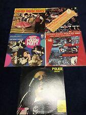Larry Chesky    POLISH- POLKA LP RECORD LOT - 5-LP Set