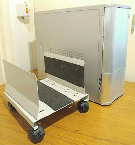 Cooler Master silver ATX pc case with wheels
