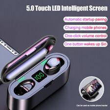 Auricular Bluetooth 5.0 TWS Audífonos Inalámbricos Estéreo Auriculares intraurales Sport doble