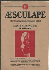 Aesculape magazine Edition north african and colonial No. 11 November 1932 REF