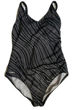 Speedo -Womens Onepiece Rushing Side Dot Swimsuit  14
