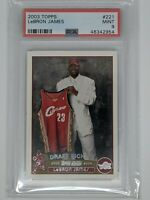 2003-04 TOPPS BASKETBALL #221 LEBRON JAMES RC ROOKIE CARD LAKERS PSA 9 MINT