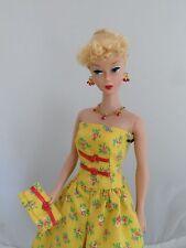Handmade Barbie Clothes Yellow Dress Set Cotton Casual Reinterpretation  No Doll