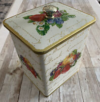 VTG Tin decorative cookie canister Knott's berry Farm Shortbread cookies 7x6x5""