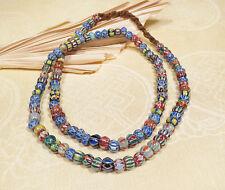 Halskette Chevron Perlen - Ethnoschmuck - Trade beads - Nepal
