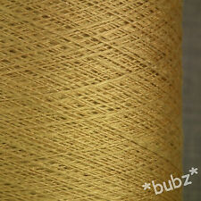 PURE VISCOSE YARN GOLD 500g CONE 10 BALL 3 2 PLY KNITTING CROCHET WEAVING YELLOW