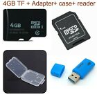Micro SD SDHC 4GB UHS-I TF Flash Memory Card CLASS4 card reader adapter case oy